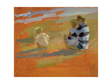 Figures on the Beach Giclee Print by Sarah Butterfield