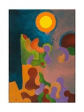Grandma Telling Stories in the Twilight, 2009 Giclee Print by Jan Groneberg
