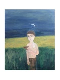 Boy with Bird, 2002 Giclee Print by Roya Salari