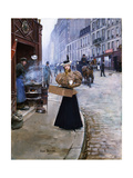 The Roasted Chestnut Seller Giclee Print by Jean Beraud