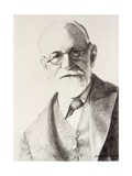 Sigmund Freud, 1994 Giclee Print by Dinah Roe Kendall