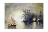 Boats Giclee Print by John Lidzey