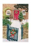 Snowy Front Garden Giclee Print by Linda Benton