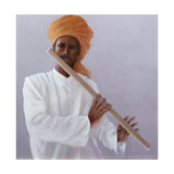 Flute Player Gicléedruk van Lincoln Seligman