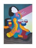 Little Drummer Girl, 2009 Giclee Print by Jan Groneberg