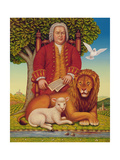 J.S. Bach's (1685-1750) Peaceable Kingdom, 2000 Giclee Print by Frances Broomfield