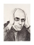 Michel Foucault, 1994 Giclee Print by Dinah Roe Kendall