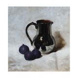 Silver Jug and Figs Giclee Print by James Gillick