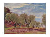Provencal Landscape Giclee Print by Augustus Edwin John
