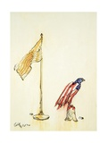 American Eagle Acquires Us Flag Colouration, 1985 Giclee Print by George Adamson