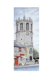 St Margaret's Church Clock, Hornby, Lancashire, 2009 Giclee Print by Sandra Moore