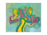 Three Friends Re-Unite after a Long Time, 2009 Giclee Print by Jan Groneberg