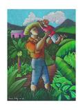 Mi Futuro Y Mi Tierra, 2003 Giclee Print by Oscar Ortiz