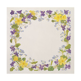 Primrose and Violet Square Giclee Print by Linda Benton