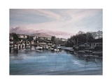 Evening, Caernarfon Giclee Print by Jane Carpanini