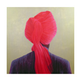 Red Turban, Purple Jacket Giclee Print by Lincoln Seligman