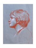 Profile of Edward Gorst Aged 10, 2008 Giclee Print by James Gillick