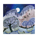 First Snow Surrey Hills Giclee Print by Lisa Graa Jensen