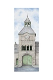 Gatehouse Clock, Caton Road, Lancaster, Lancashire, 2009 Giclee Print by Sandra Moore