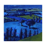 Blue Landscape, 2009 Giclee Print by Paul Powis