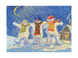Snowmen's Night Out, 2008 Giclee Print by David Cooke