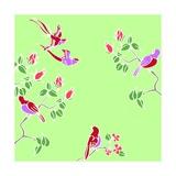 Blossom Birds Giclee Print by Anna Platts