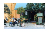 Cafe, Aix-En-Provence, 1999 Giclee Print by Trevor Neal