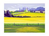 Dandelions and Rape, Finchingfield, 2003 Giclee Print by Derek Crow