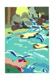 Torrent at Flims Giclee Print by Hugh Bulley