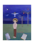 Boy Praying in the Garden, 2002 Giclee Print by Roya Salari