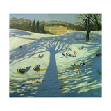 Calke Abbey House, Winter, 2002 Giclee Print by Andrew Macara