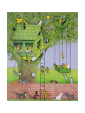 Cat Tree House Giclee Print by Pat Scott