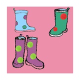 Wellies Giclee Print by Anna Platts