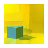 Yellow / Blue Giclee Print by Daniel Cacouault