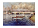 Hampton Court Bridge, 1996 Giclee Print by Isabel Hutchison
