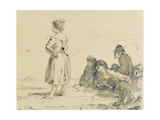 The Wreckers, C.1900 Giclee Print by Augustus Edwin John