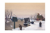 Richmond Riverside under Snow, 1947 Giclee Print by Bettina Shaw-Lawrence