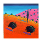 Pink Hill Giclee Print by Paul Powis