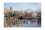 Winter Training at Hampton Giclee Print by Timothy Easton