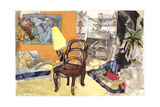 Interior Studio Chair Giclee Print by Hugh Bulley
