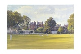 Cricket at Burton Court Giclee Print by Julian Barrow