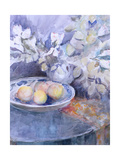 Delft Platter on a Circular Table Giclee Print by Karen Armitage