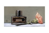Perfume Bottle and Carnation, 2009 Giclee Print by James Gillick