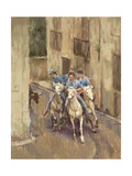 The Bull Run in Soubes Giclee Print by Pat Maclaurin