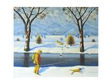 Winters Walk, 2005 Giclee Print by Radi Nedelchev