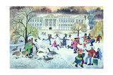 Skaters at St. James's Park Giclee Print by Lisa Graa Jensen