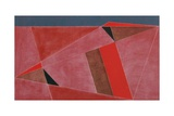 Triangulated Red Landscape, 2002 Giclee Print by George Dannatt