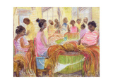 Cigar Factory, Havana Giclee Print by Kate Yates