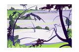Flax Fields, Rayne, 2003 Giclee Print by Derek Crow