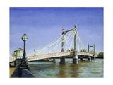 Albert Bridge (Daylight) Giclee Print by Isabel Hutchison